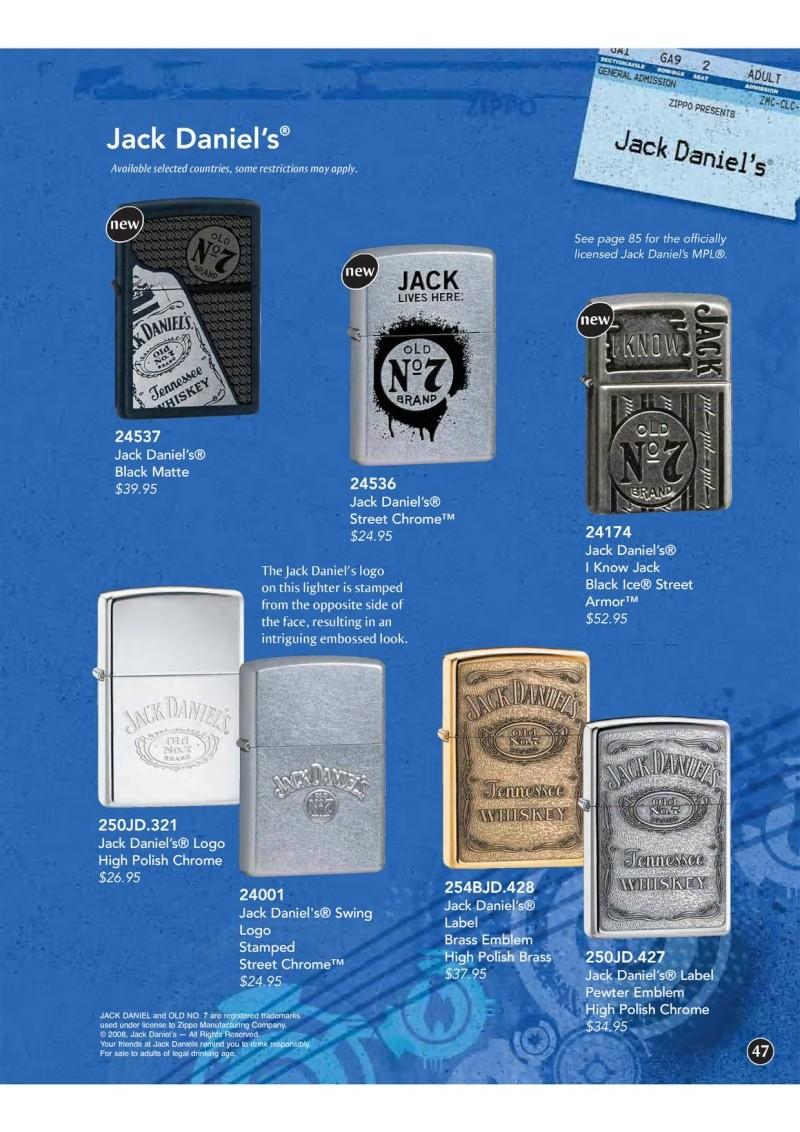 Catalogue ZIPPO 2009 Complete line (version américaine) 4710