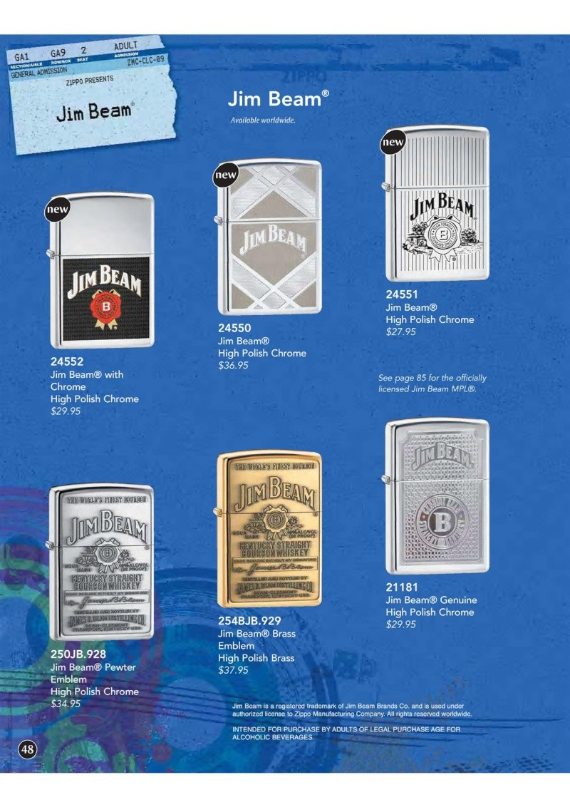 Catalogue ZIPPO 2009 Complete line (version américaine) 4810