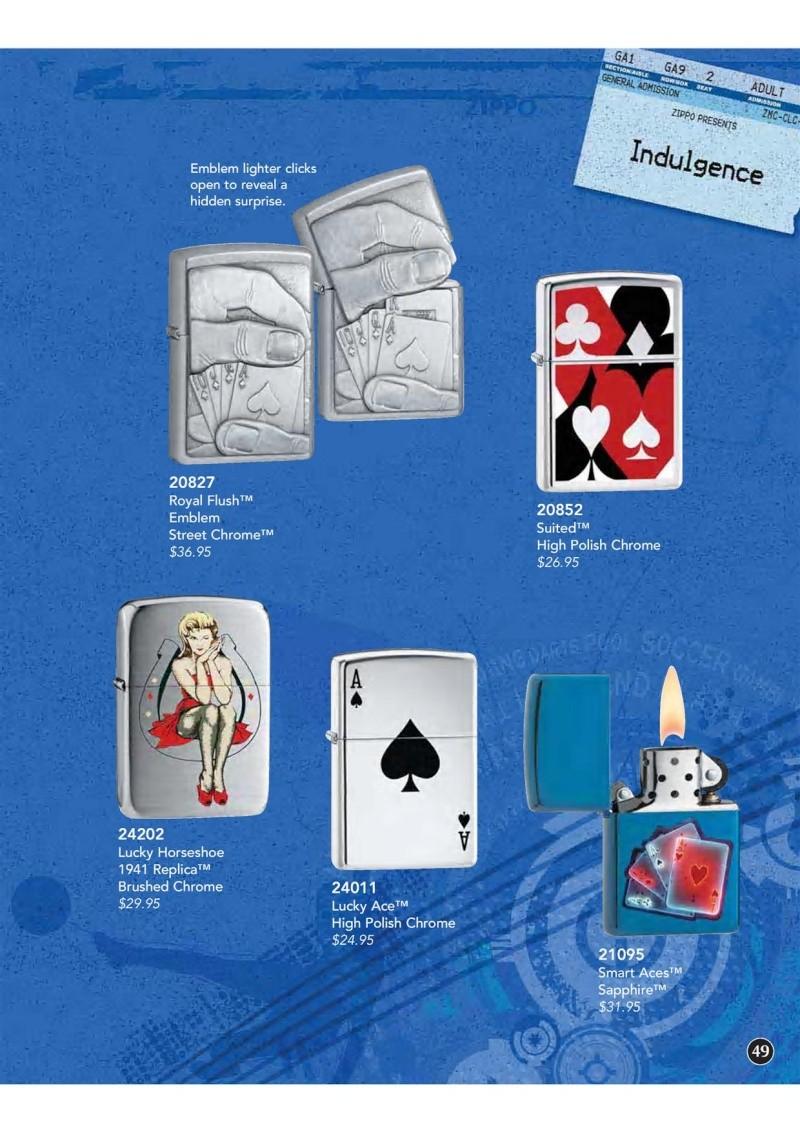Catalogue ZIPPO 2009 Complete line (version américaine) 4910