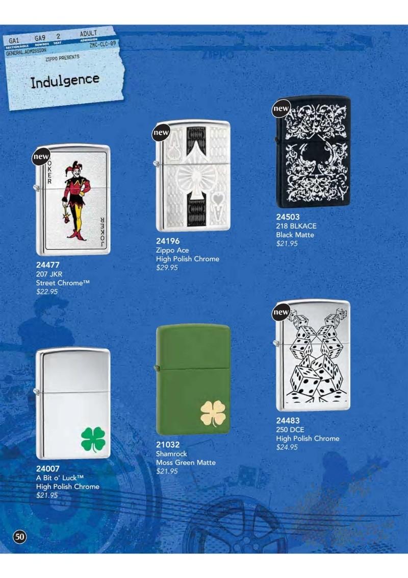 Catalogue ZIPPO 2009 Complete line (version américaine) 5010