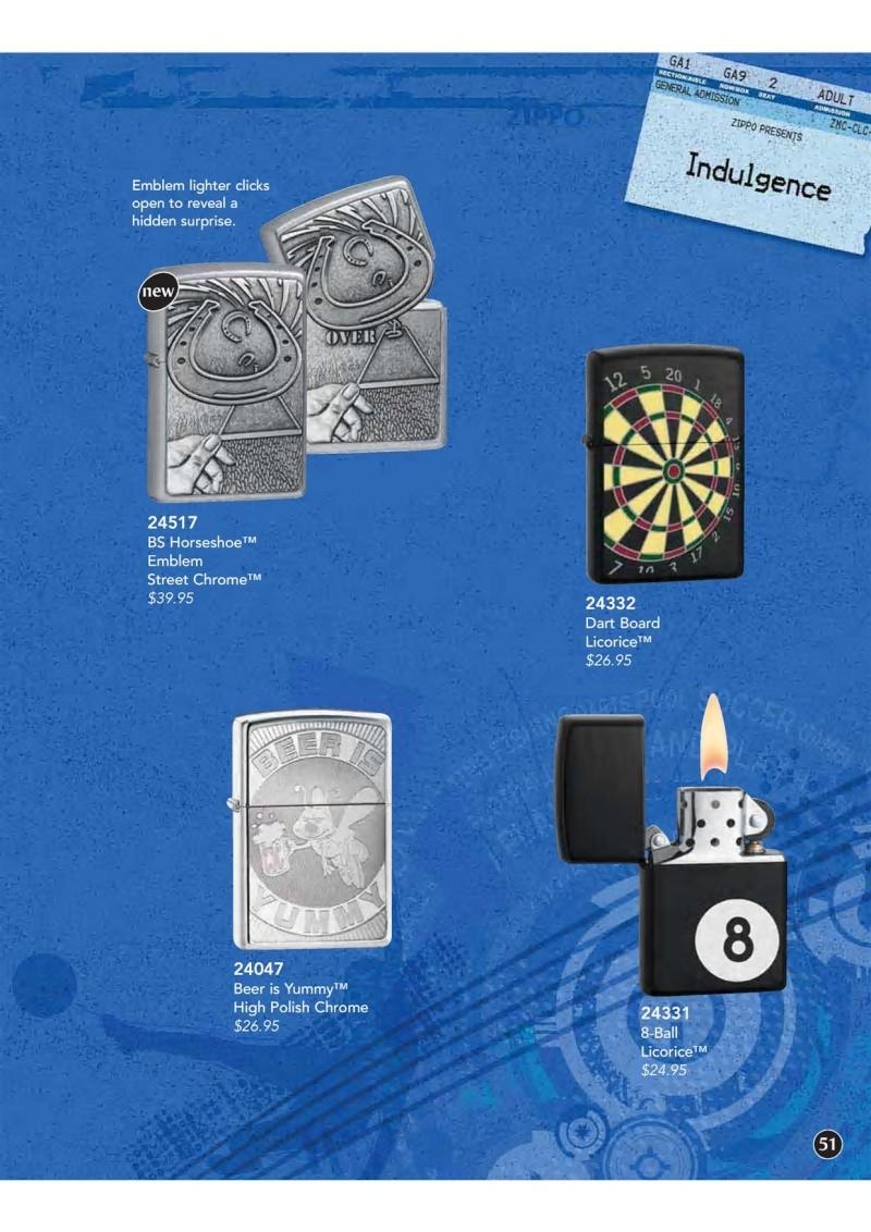 Catalogue ZIPPO 2009 Complete line (version américaine) 5110