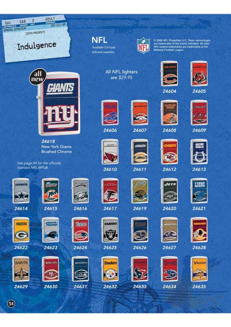 Catalogue ZIPPO 2009 Complete line (version américaine) 5410