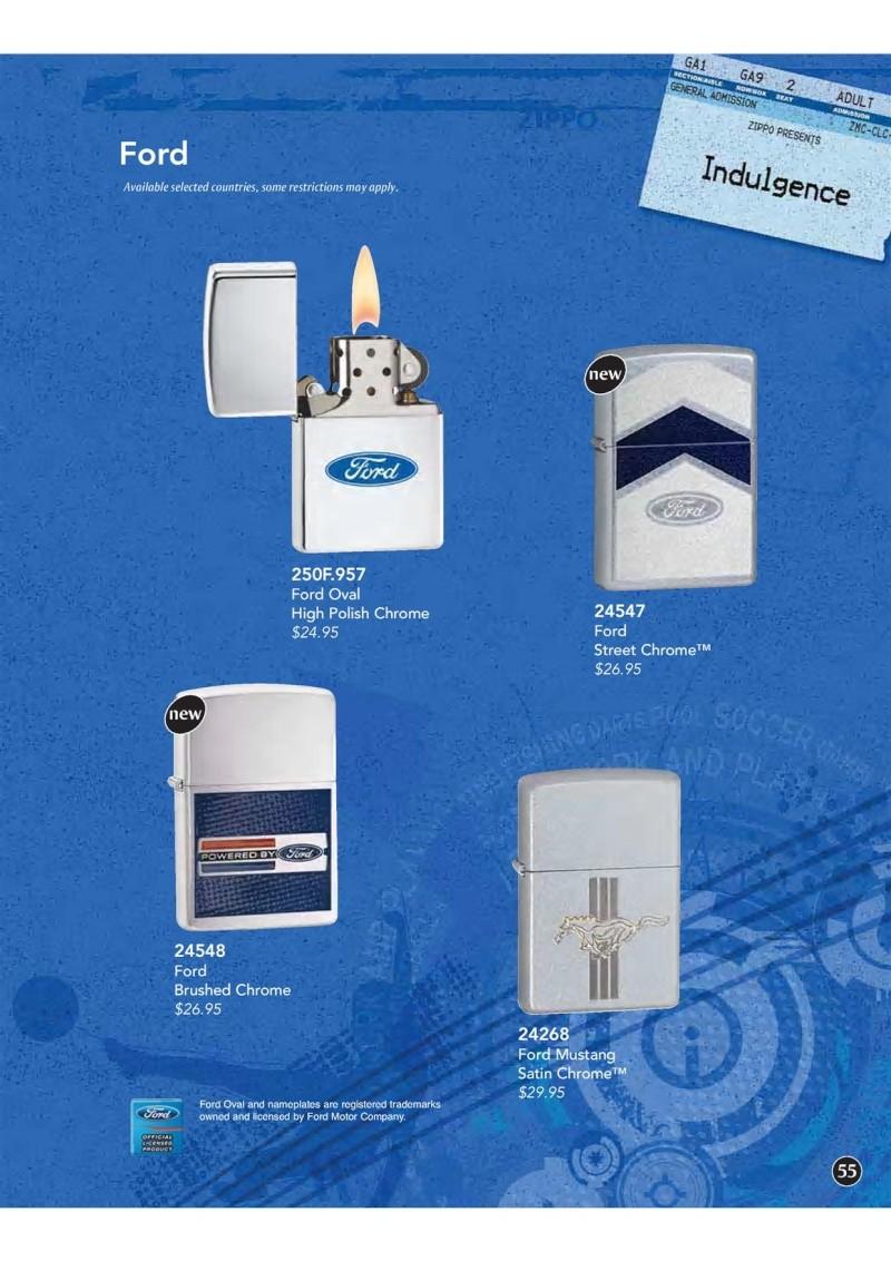 Catalogue ZIPPO 2009 Complete line (version américaine) 5510