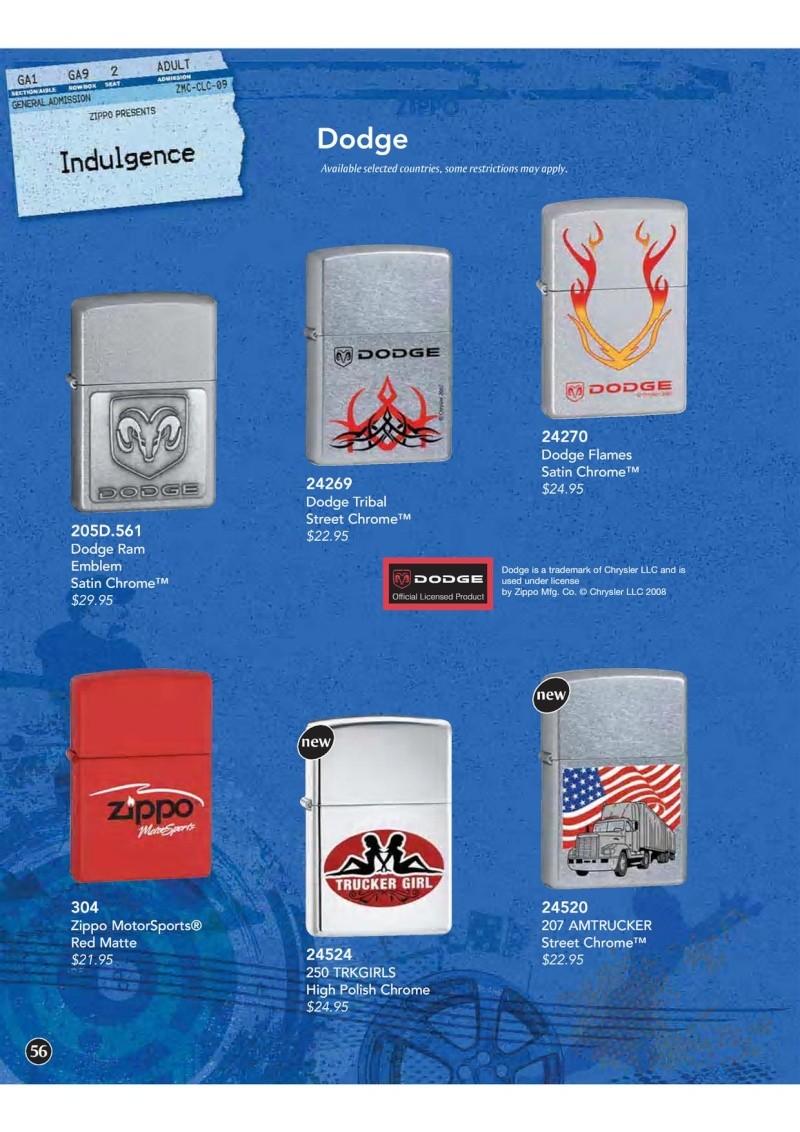 Catalogue ZIPPO 2009 Complete line (version américaine) 5610