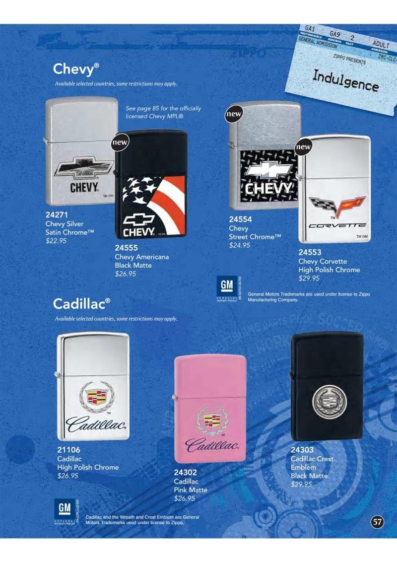 Catalogue ZIPPO 2009 Complete line (version américaine) 5710