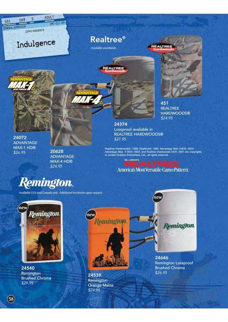 Catalogue ZIPPO 2009 Complete line (version américaine) 5810