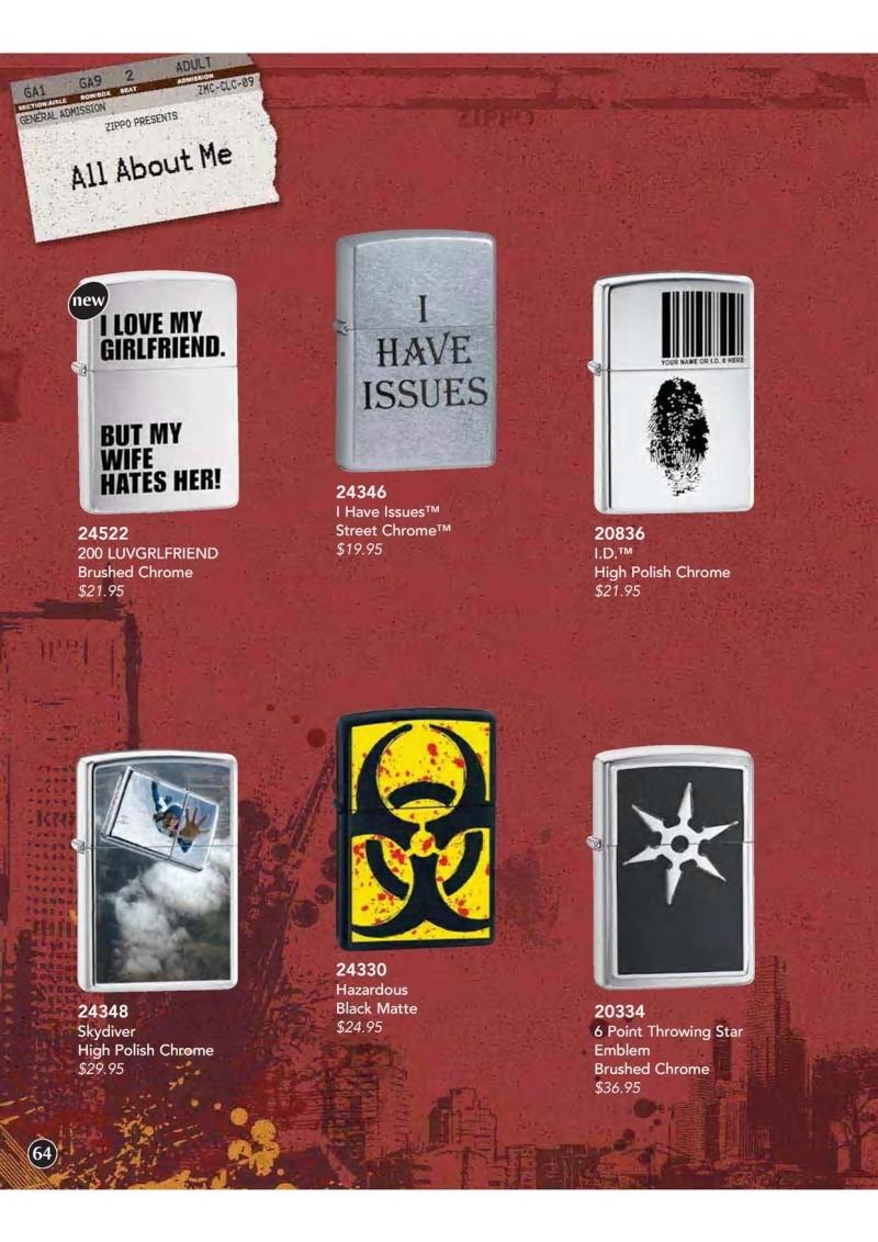 Catalogue ZIPPO 2009 Complete line (version américaine) 6410