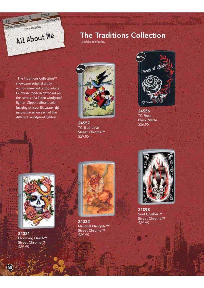 Catalogue ZIPPO 2009 Complete line (version américaine) 6810