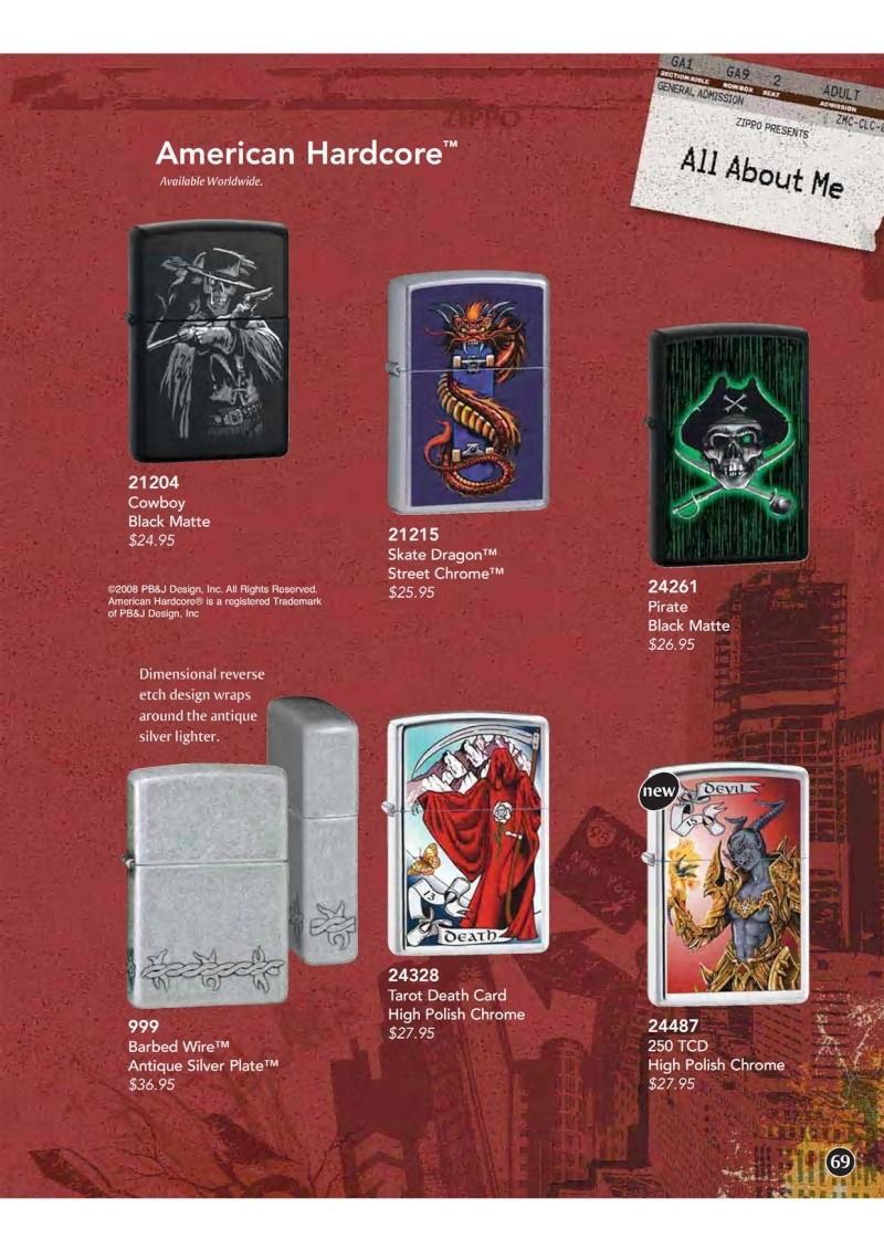 Catalogue ZIPPO 2009 Complete line (version américaine) 6910
