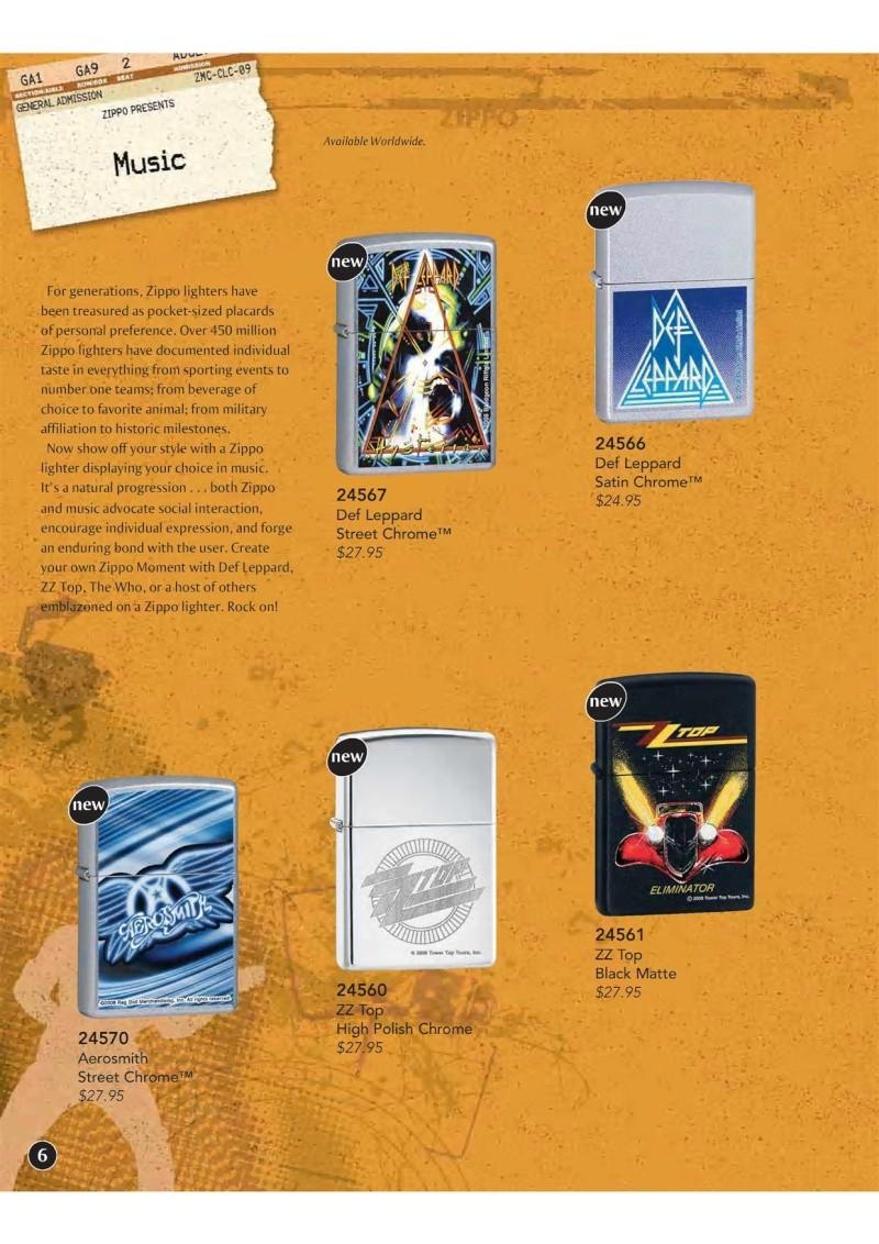Catalogue ZIPPO 2009 Complete line (version américaine) 710