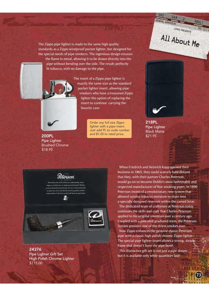 Catalogue ZIPPO 2009 Complete line (version américaine) 7310