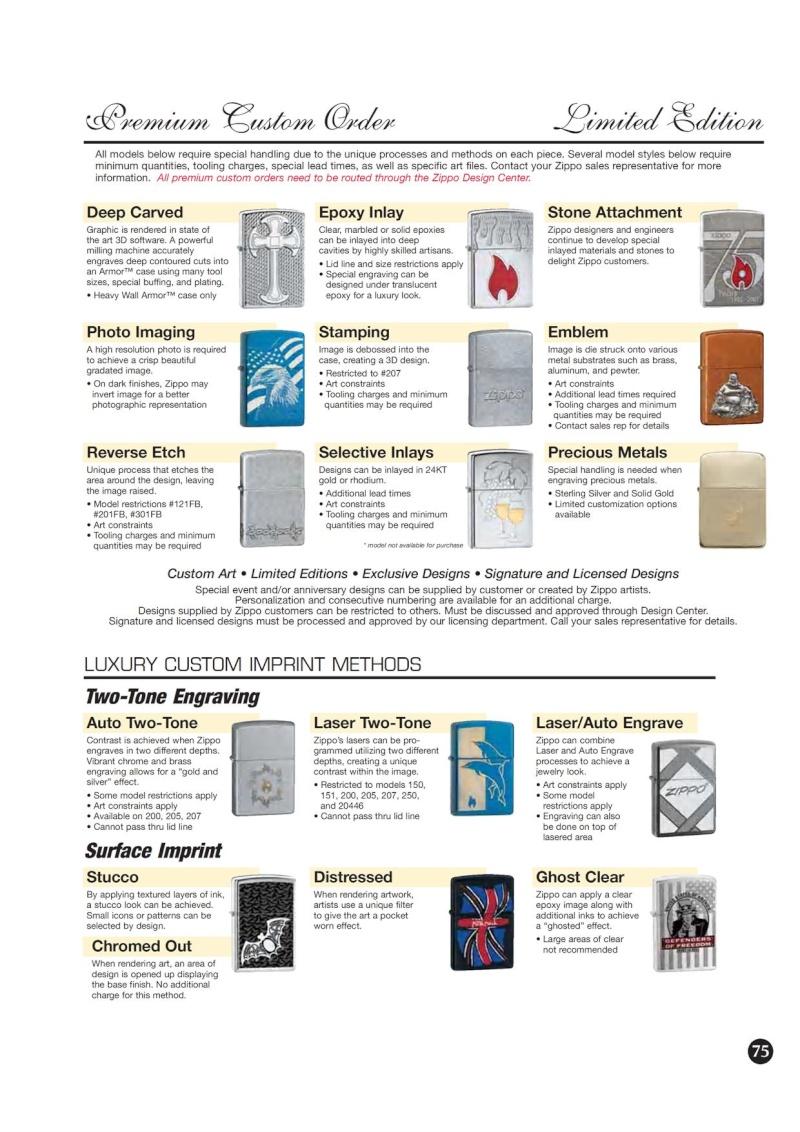 Catalogue ZIPPO 2009 Complete line (version américaine) 7510
