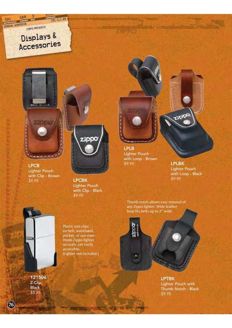 Catalogue ZIPPO 2009 Complete line (version américaine) 7610