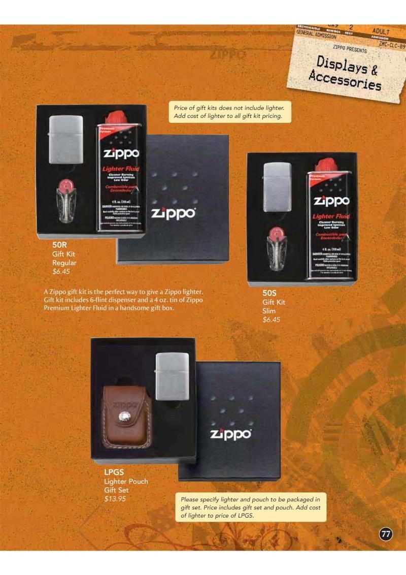 Catalogue ZIPPO 2009 Complete line (version américaine) 7710