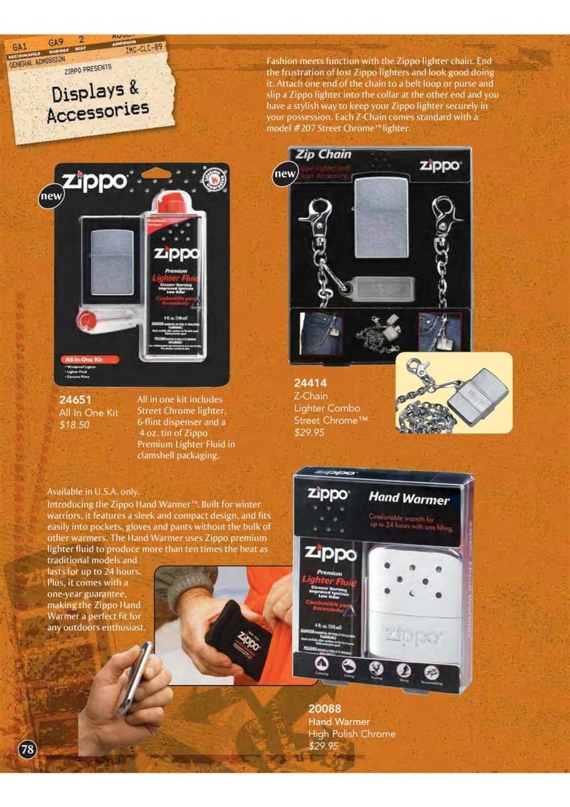 Catalogue ZIPPO 2009 Complete line (version américaine) 7810