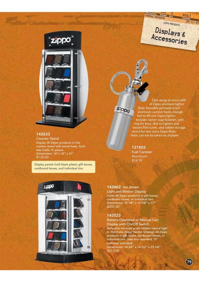 Catalogue ZIPPO 2009 Complete line (version américaine) 7910