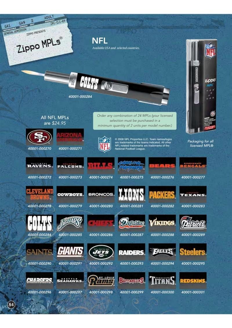Catalogue ZIPPO 2009 Complete line (version américaine) 8410