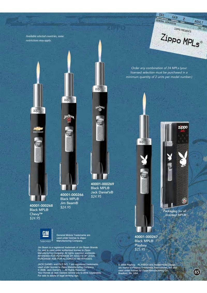 Catalogue ZIPPO 2009 Complete line (version américaine) 8510