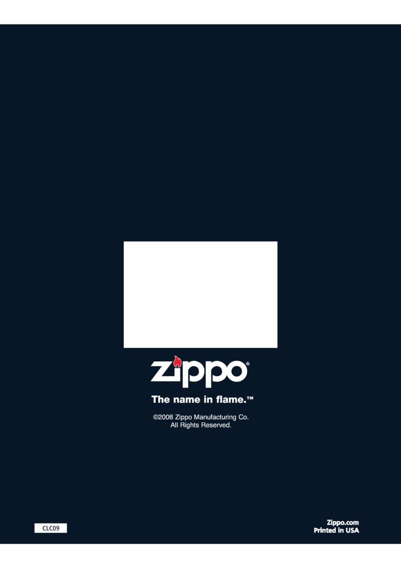 Catalogue ZIPPO 2009 Complete line (version américaine) 8810