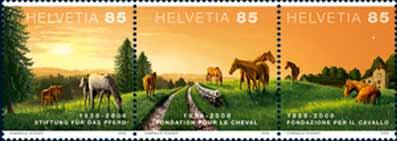 Sondermarken zum 50-jährigen Bestehen der Stiftung für das Pferd Ph-neu10