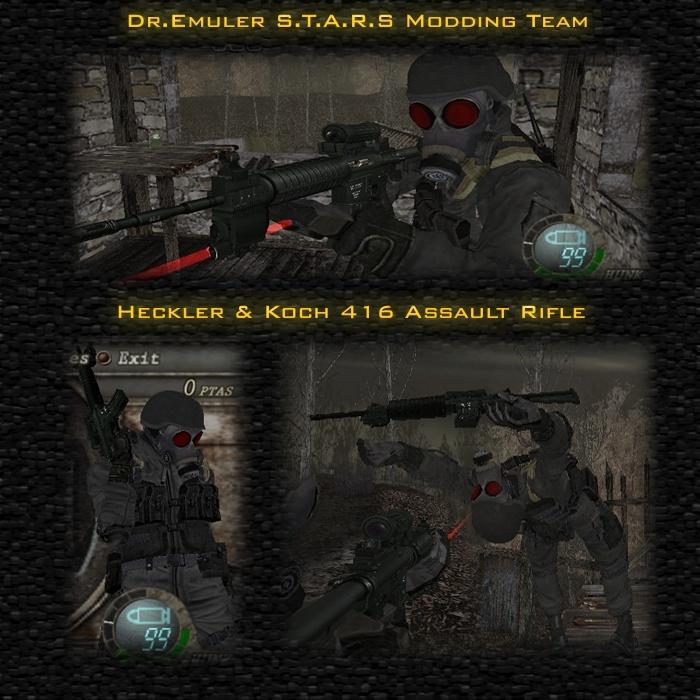 Rifle de asalto H&K 416 + animaciones nuevas + movimientos nuevos para hunk Snapsh10