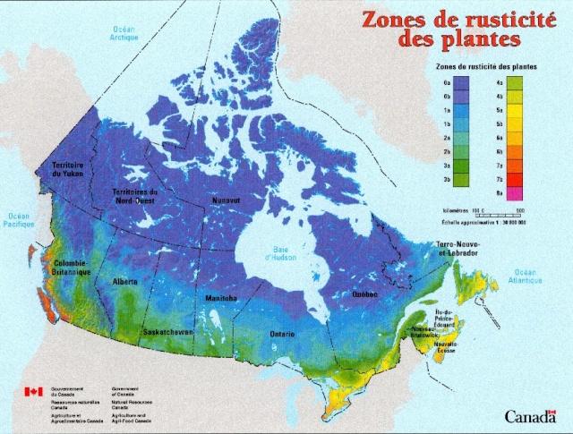 cartes des zones USDA Sans_t34