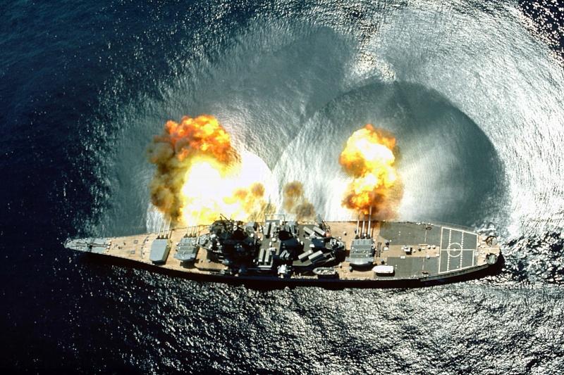 USS Iowa firing a broadside in 1984 Uss_io10
