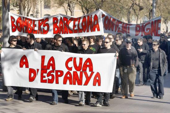 Los bomberos de Barcelona reclaman su equiparación con el resto de Cuerpos Lubomb10
