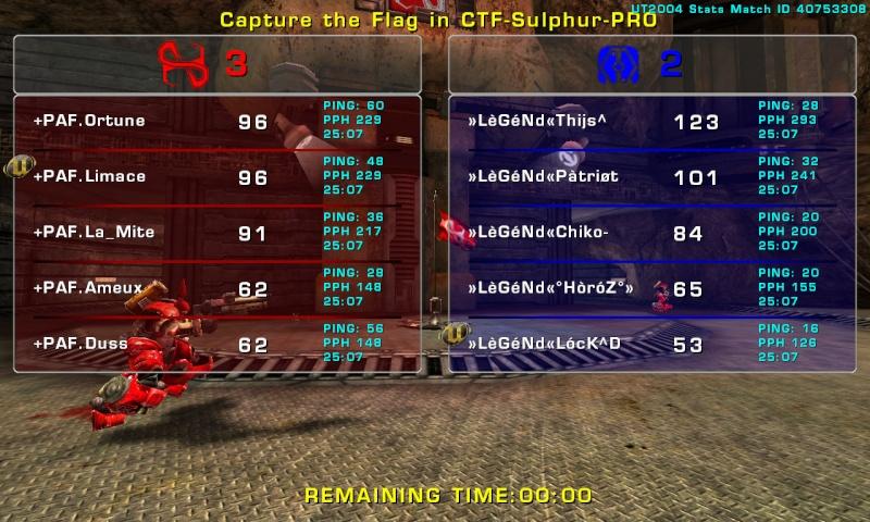 Match »LèGéNd« vs +PAF.  Thursday 09 October 2008 21:00 hours CET (iCTF Laddermatch 5 vs 5) Legend18