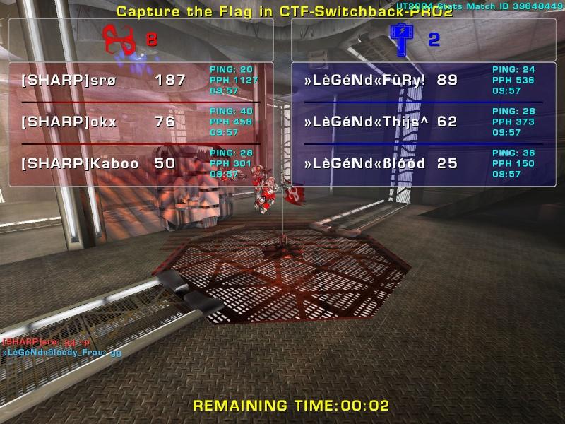 Match »LèGéNd« vs Sharp Sunday 3 August 2008 21:30 hours (iMix Tournament) Legend30