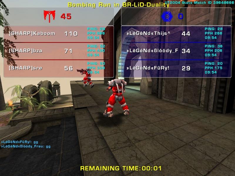 Match »LèGéNd« vs Sharp Sunday 3 August 2008 21:30 hours (iMix Tournament) Legend31