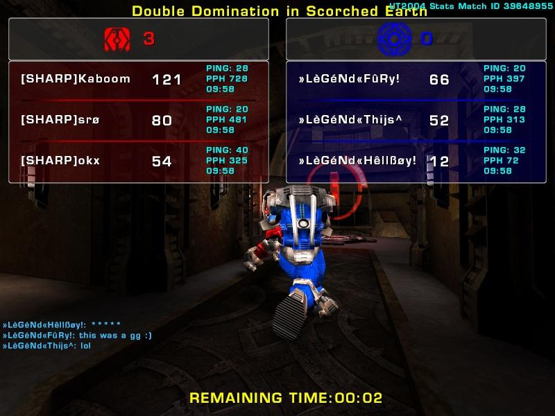 Match »LèGéNd« vs Sharp Sunday 3 August 2008 21:30 hours (iMix Tournament) Legend32