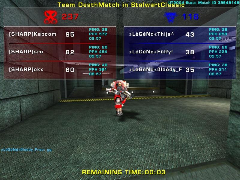 Match »LèGéNd« vs Sharp Sunday 3 August 2008 21:30 hours (iMix Tournament) Legend33