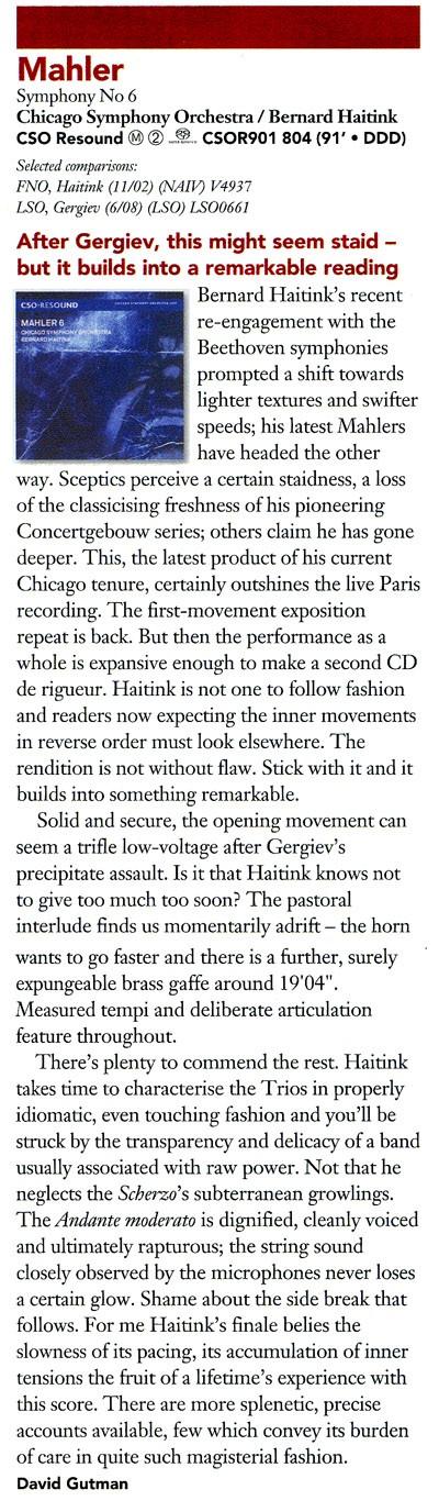 Las críticas de Gramophone Haitin10