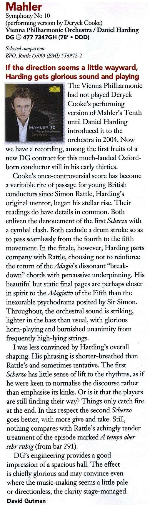 Las críticas de Gramophone Hardin10