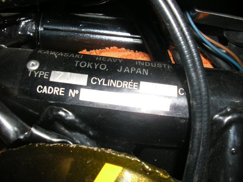 Plaque constructeur Kawasaki 73 Plaque10