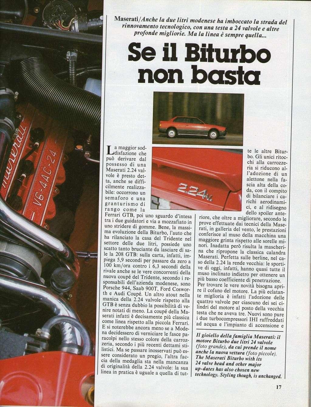 long term test Maserati 2.24v.....autocapital novembre 1989 Immagi25