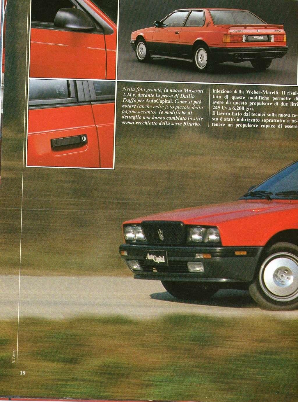 long term test Maserati 2.24v.....autocapital novembre 1989 Immagi26