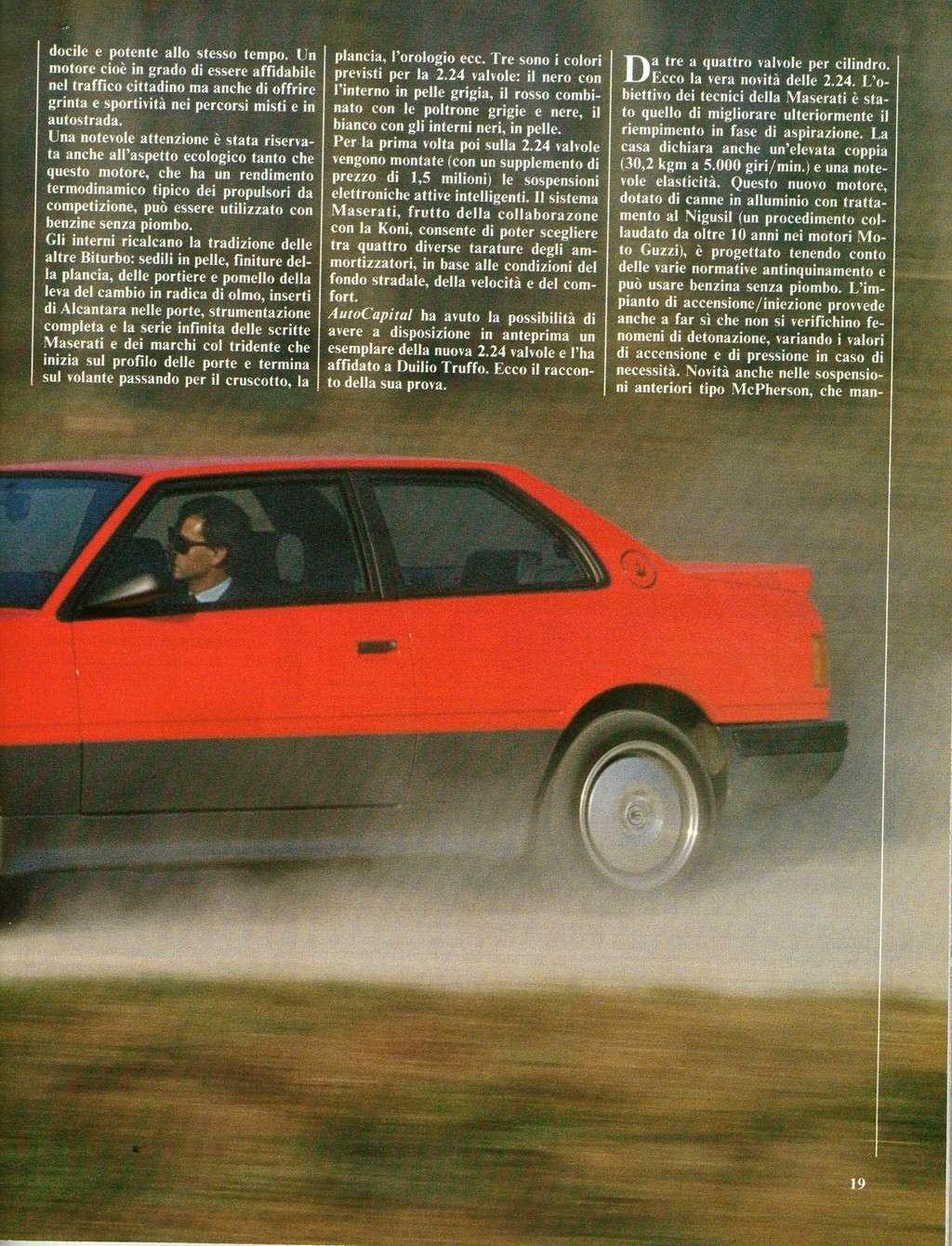 long term test Maserati 2.24v.....autocapital novembre 1989 Immagi27
