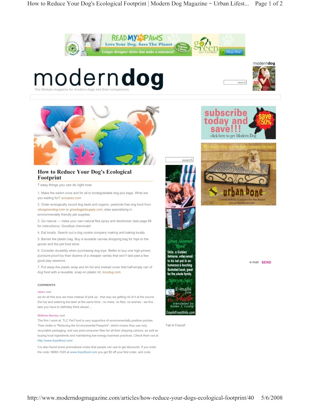 Reduce Your Dog's Ecological Footprint Modern10