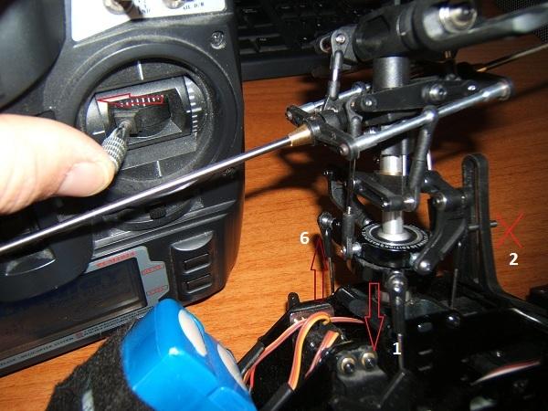 Emplacement et sens de fonctionnement des servos du cyclique Dscf3920