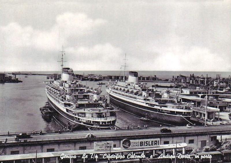 'Cristoforo Colombo' - Italia nav. - 1953 008ner10