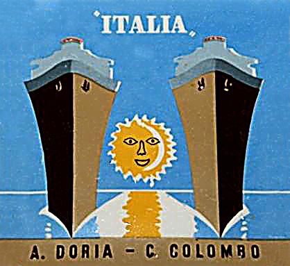 'Cristoforo Colombo' - Italia nav. - 1953 010ner10