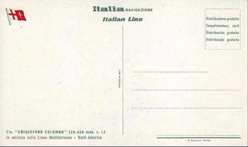 'Cristoforo Colombo' - Italia nav. - 1953 015bia10