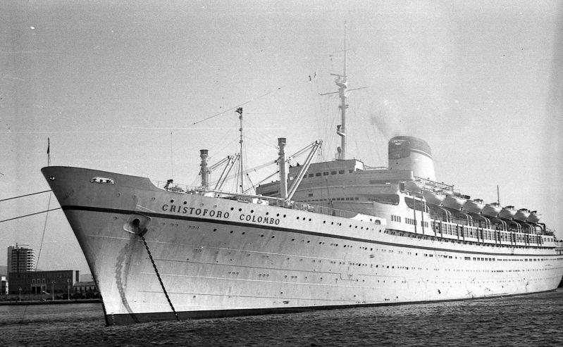 'Cristoforo Colombo' - Italia nav. - 1953 016bia10