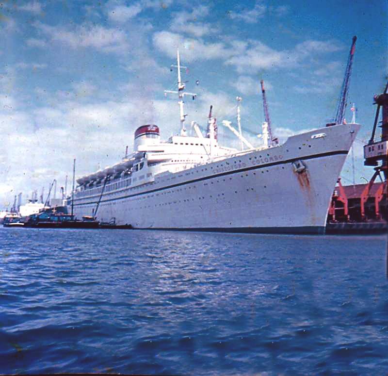 'Cristoforo Colombo' - Italia nav. - 1953 018bia10