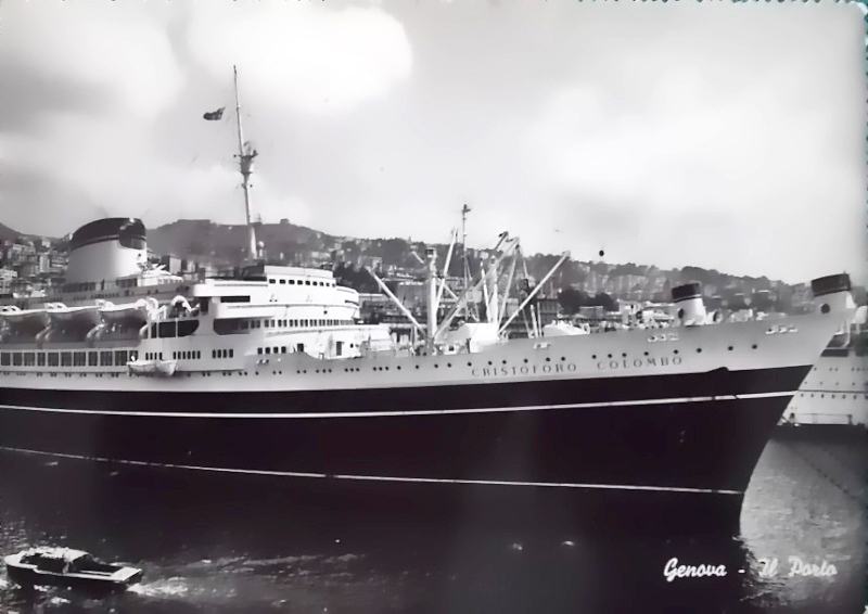 'Cristoforo Colombo' - Italia nav. - 1953 018ner10
