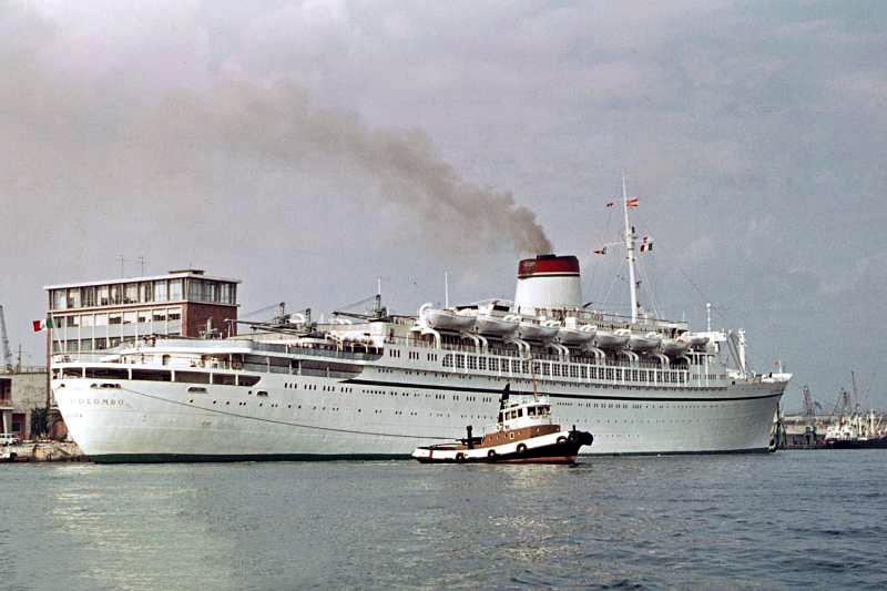 'Cristoforo Colombo' - Italia nav. - 1953 022bia10
