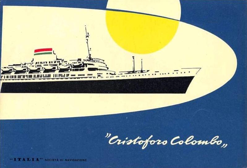 'Cristoforo Colombo' - Italia nav. - 1953 024ner11