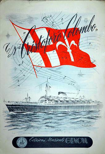'Cristoforo Colombo' - Italia nav. - 1953 028ane10